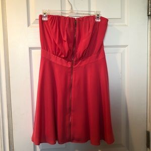 Express Strapless Coral Dress
